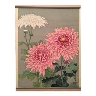 """Chrysanthemums"" Japanese Woodblock"