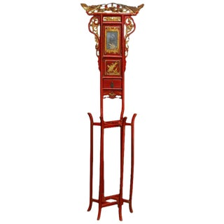 Chinese Red Lacquer and Parcel-Gilt Washstand