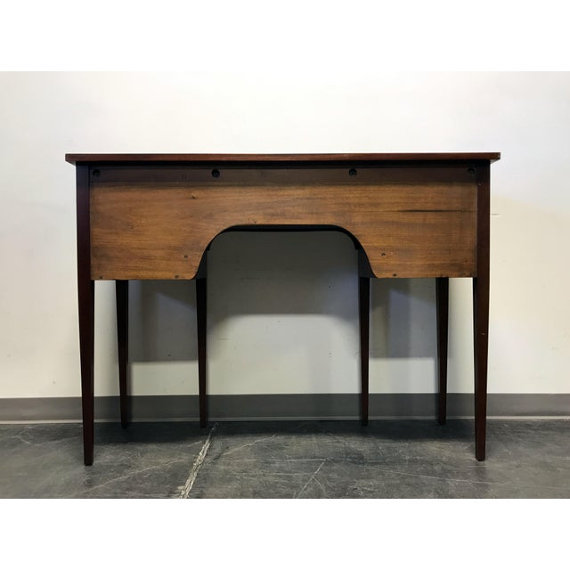 Late 19th Century Inlaid Mahogany Walnut Satinwood Bow Front Sideboard / Console - Image 10 of 11