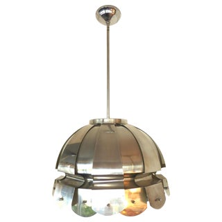 Elio Martinelli Stainless Steel Chandelier