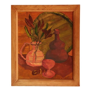 Mid Century Abstract Still Life Painting