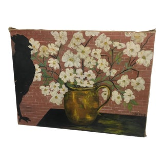 Olga Heap Dogwood Flowers & Chicken Still Life Painting