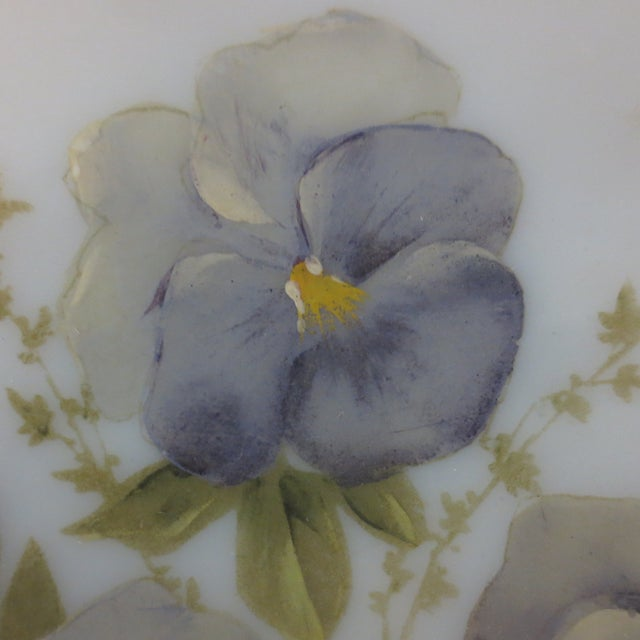 Hand-Painted Pansies Plate - Image 3 of 4
