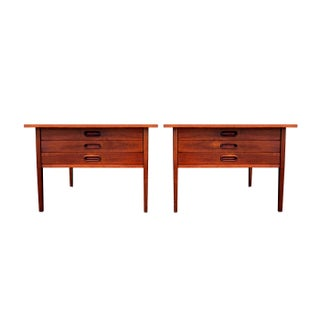 Danish Modern Oversized End or Side Tables- A Pair
