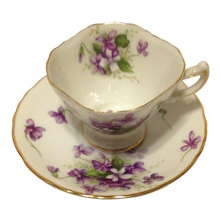 "70-Year-Old Rossetti ""Spring Violets"" Demitasse/ Tea Cup, Made in Japan"