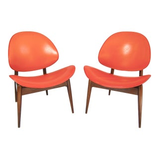 Kodawood Mid Century Modern Clamshell Chairs - a Pair