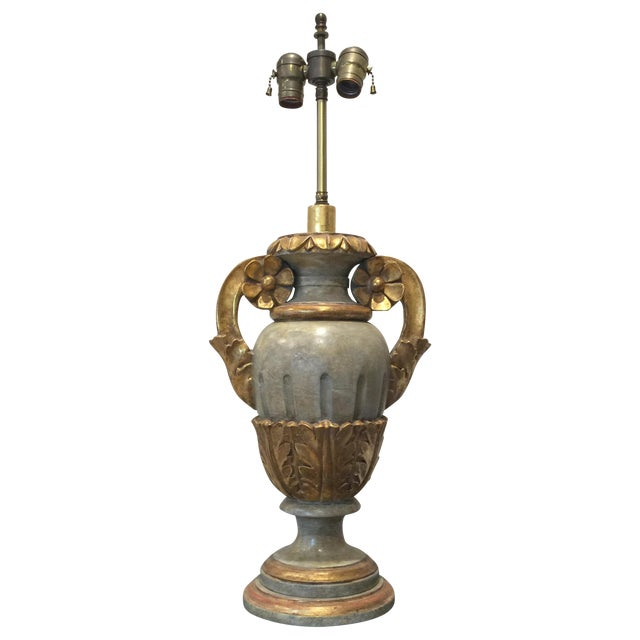 Vintage Italian Painted Urn Form Table Lamp - Image 1 of 9