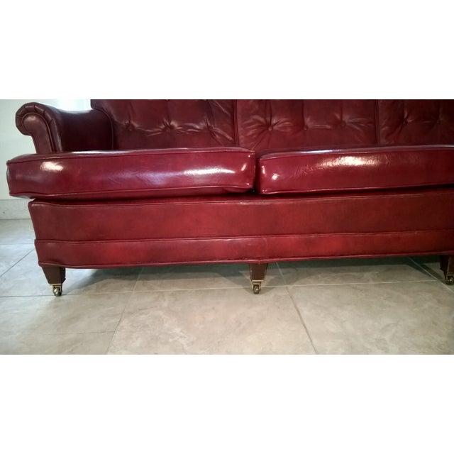 Vintage Red Vinyl Sofa Chairish