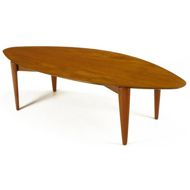 Image of Double Parabola Teak Coffee Table in the Manner of Finn Juhl