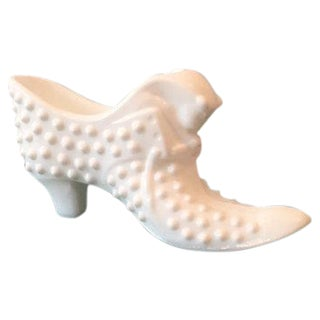Fenton Hobnail Milk Glass Victorian Boot
