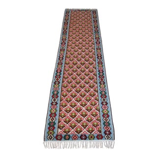"Antique Turkish Anatolian Kilim Runner Rug - 2'6"" x 10'"