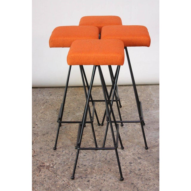 Set of Four Adrian Pearsall #11 Iron Barstools - Image 11 of 11