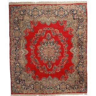 RugsinDallas Vintage Handmade Wool Persian Kerman Rug - 12′6″ × 14′6″