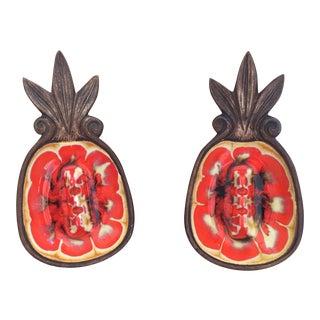 1960s Pineapple Ashtrays - A Pair