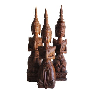Balinese Hand Carved Statues - Set of 3