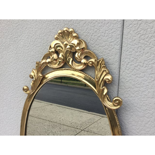 1970's French Style Brass Mirror - Image 4 of 9