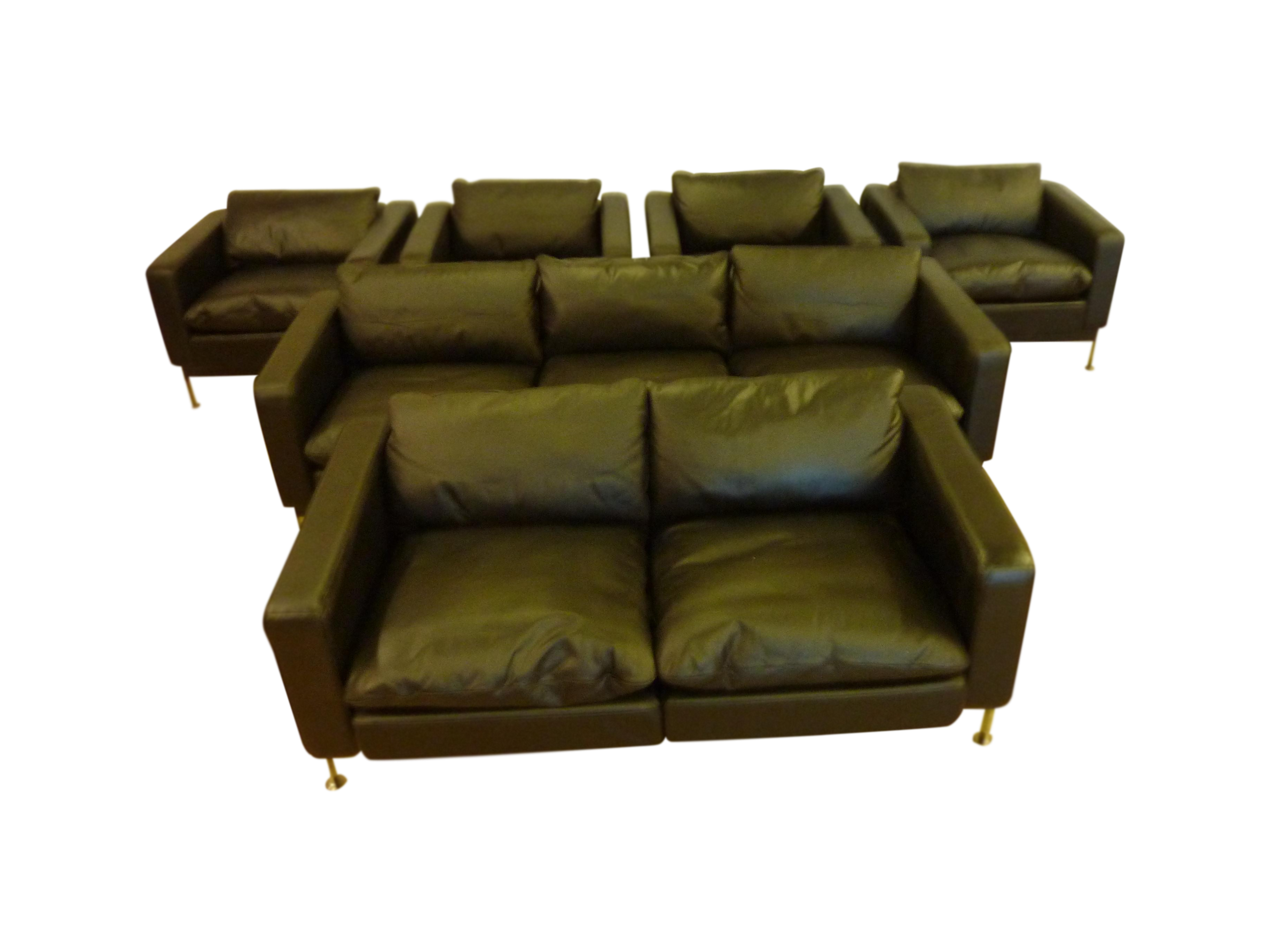 DeSede Sofa, Loveseat U0026 4 Matching Chairs By Charles Stendig, Matching