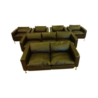 DeSede Sofa, Loveseat & 4 Matching Chairs
