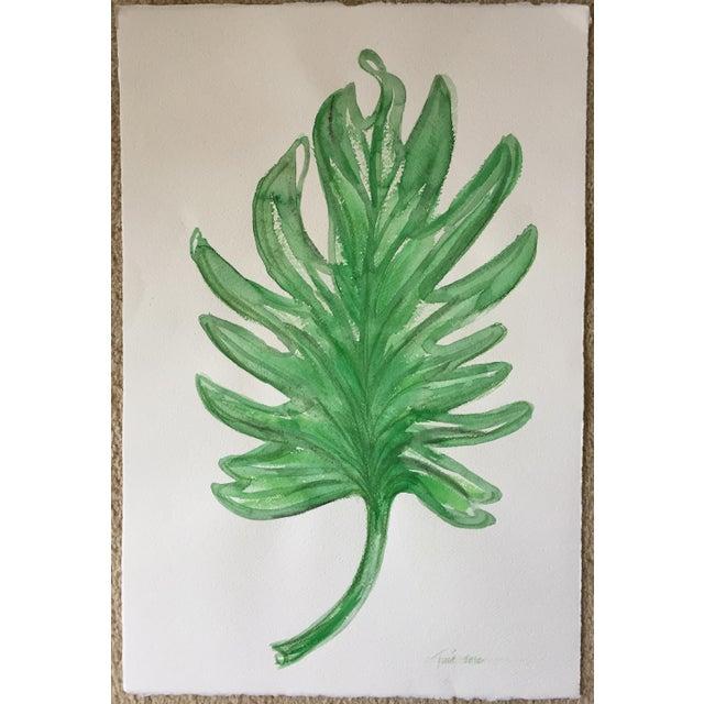 "Original Leaf Watercolor-15"" X 22""-Signed - Image 4 of 4"