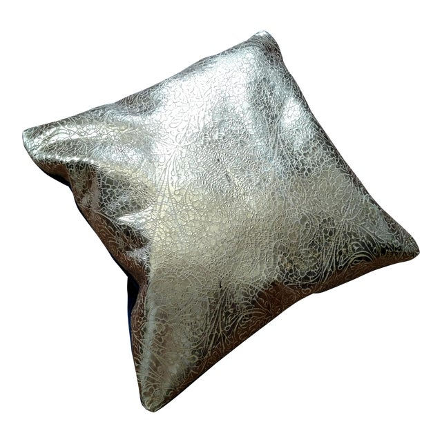 Gambrell Renard Leather & Velvet Pillow - Image 1 of 4