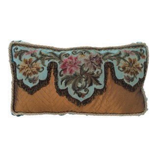Antique Beadwork Textile Pillow