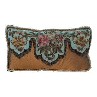 Antique Beadwork Textile Pillow