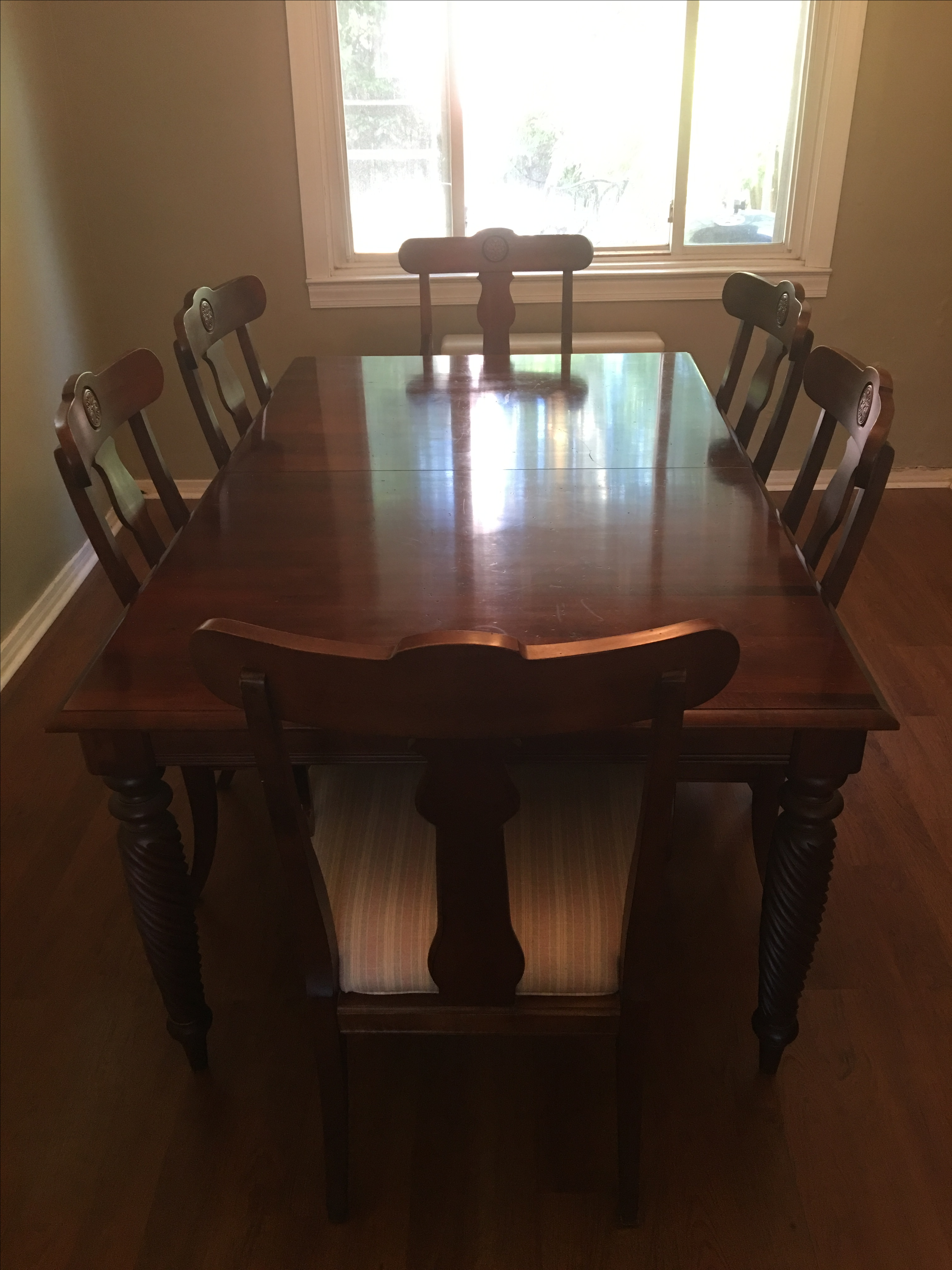 7 Piece Ethan Allen British Classic Dining Set   Image 2 Of 11