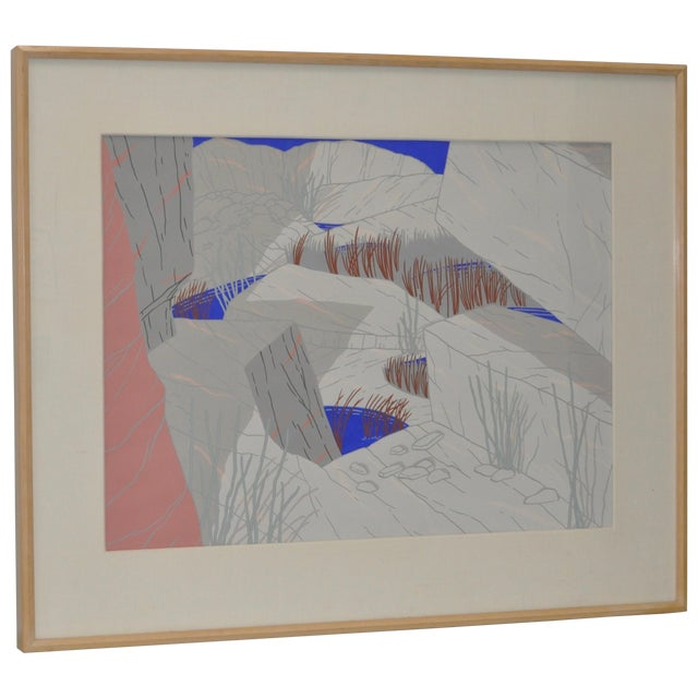 """Jeff Long """"Indian Wells"""" Painting C.1983 - Image 1 of 6"""