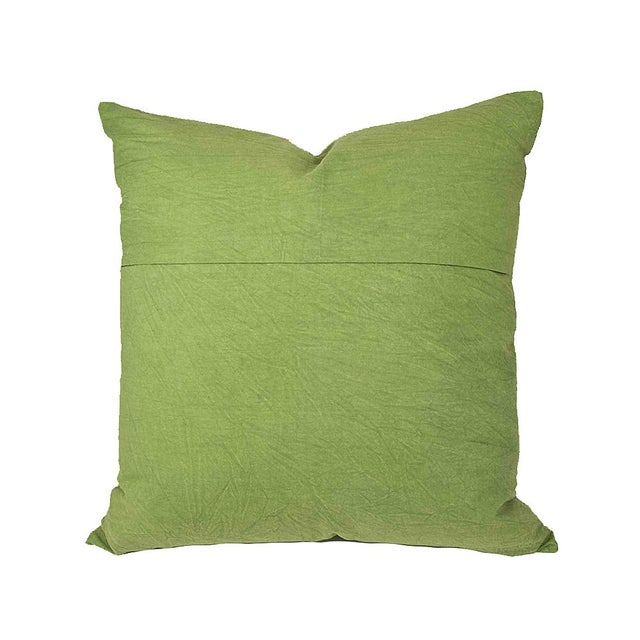 Hand Applique Green Pillow - Image 2 of 8