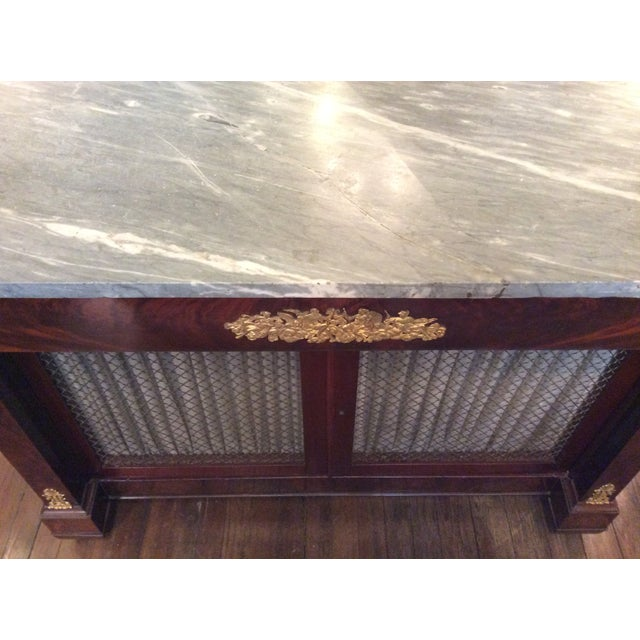 Gray Marble Top Credenza - Image 6 of 6