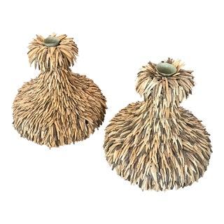 Palecek Coconut Shell Vases - A Pair