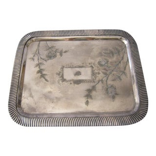 Victorian Silverplate Tray