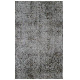 "Floral Tile Pattern Overdyed Carpet- 3'10"" x 6'3"""