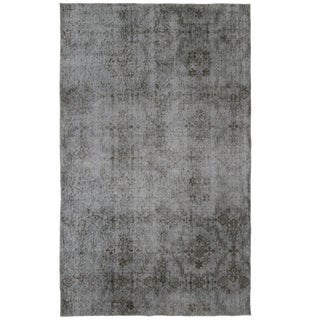 Floral Tile Pattern Overdyed Carpet | 3'10 x 6'3 Rug