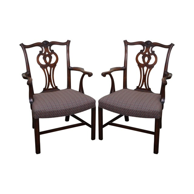 Mahogany Chippendale Armchairs - A Pair - Image 1 of 10
