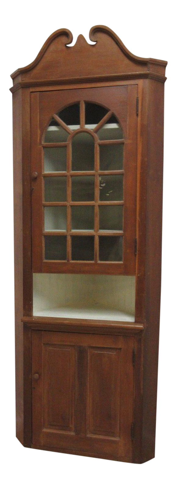 Antique Early American Corner Cupboard