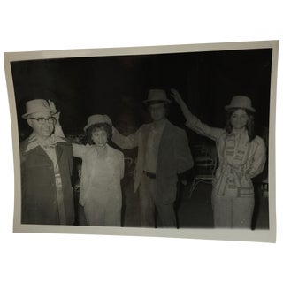 Vintage 1960s Hat Party on a Cruise Photograph
