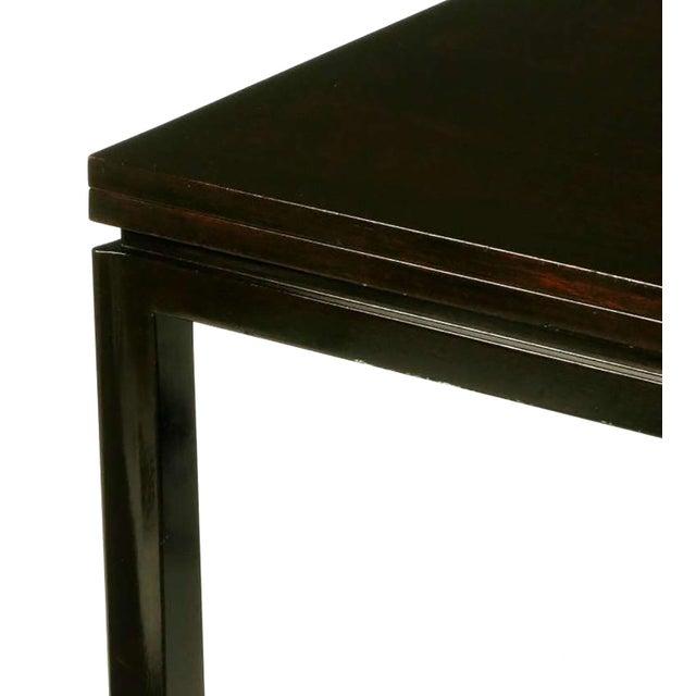 Edward Wormley #2299 Ebonized Walnut Flip-Top Game Table - Image 7 of 9