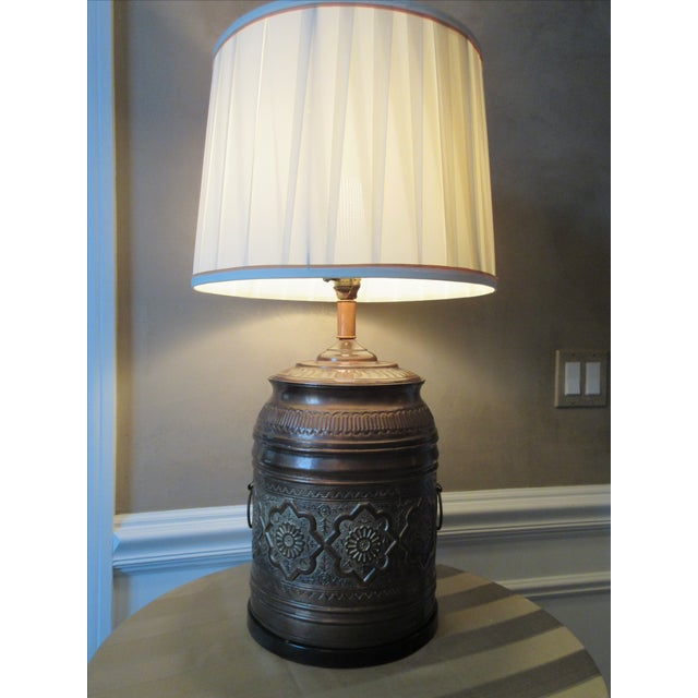 vintage moroccan style brass table lamp chairish. Black Bedroom Furniture Sets. Home Design Ideas