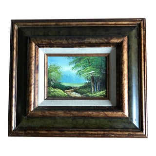 Vintage Framed Original Landscape Oil Painting