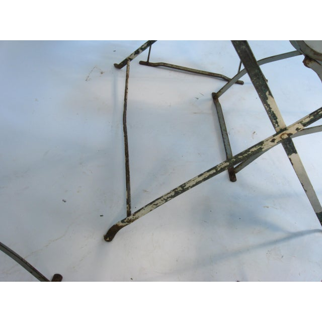 Antique French Bistro Dining Set - Image 7 of 8