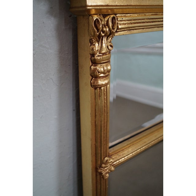Image of Italian Made Gilt Federal Hanging Wall Mirror