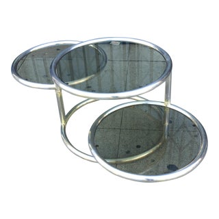 Milo Baughman Metal & Tinted Glass Coffee Table