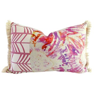 Kim Salmela Ikat Lumbar Pillow With Tassels
