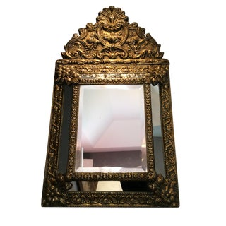 Antique Flemish Repousse Mirror