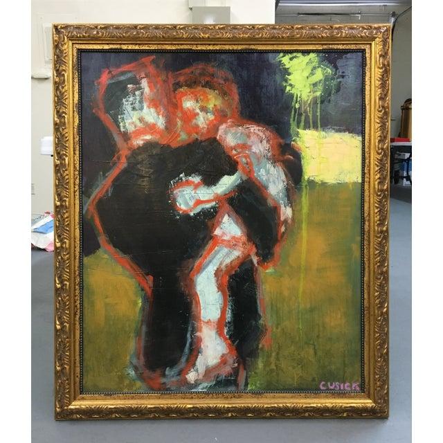 "Cusick ""At the Wedding"" Original Painting - Image 2 of 5"