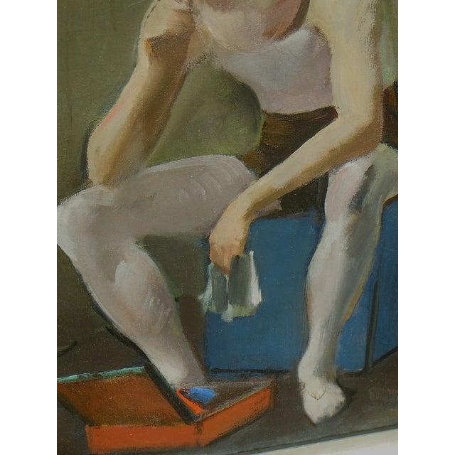 Virginia Goldberg Ballet Dancer Painting - Image 4 of 5