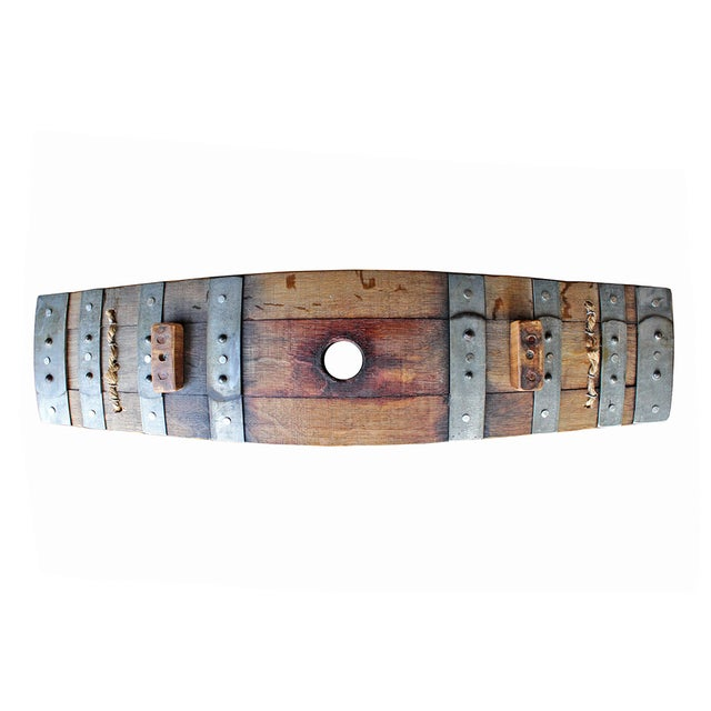 Salvaged Wine Barrel Stave Tray - Image 4 of 4