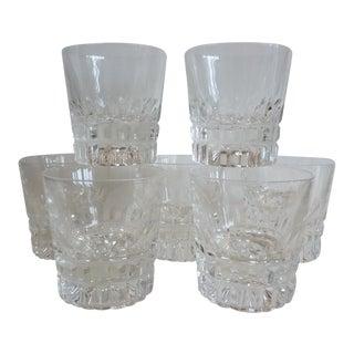Vintage Cut Glass Rocks Glasses - Set of 7
