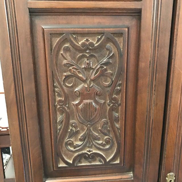 Antique Mirrored Door Armoire - Image 5 of 7